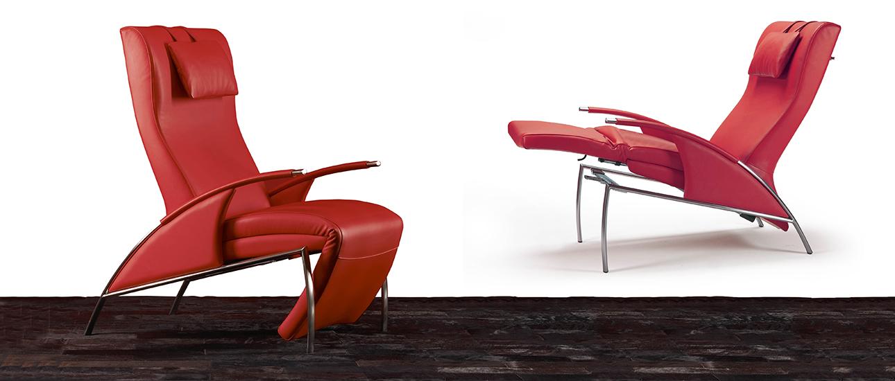 Zani collezione poltrone diva diva stringata fauteuil relax inclinable zani collezione - Poltrone relax design ...